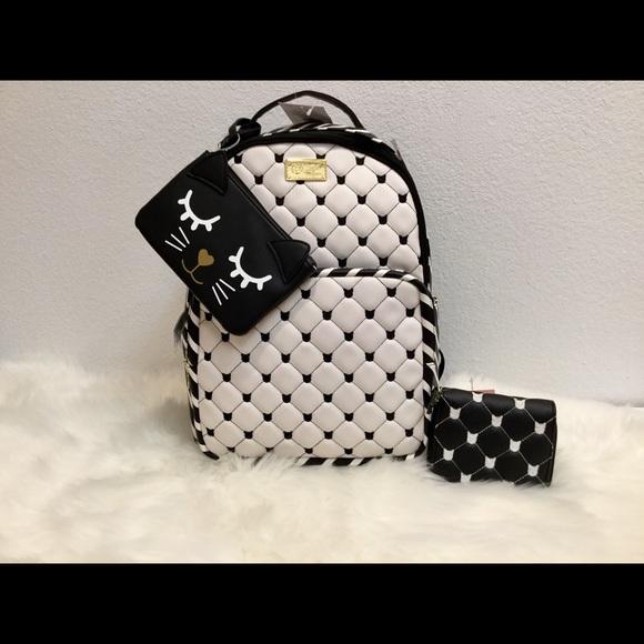 Betsey Johnson Handbags - 💋😻💋Betsey Johnson Backpack, Wallet & Pouch